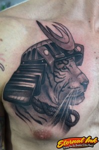 tigre samurai tattoomiguel darkacid ink